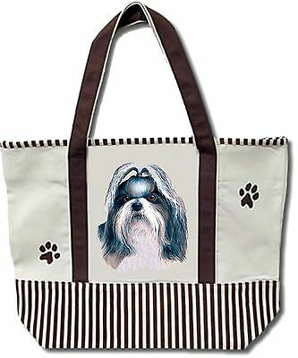 E&S Dog Tote Bag Cotton Canvas XL NEW - Shih Tzu