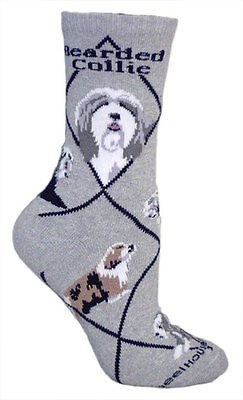 Wheel House Designs Dog Socks NWT Bearded Collie