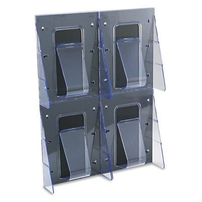 Multi-Pocket Wall-Mount Literature Systems, 18-1/4w x 23-1/2h,Clear/Black