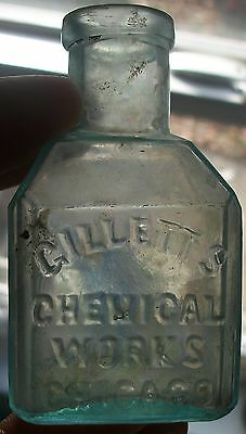 ******L@@K CIRCA 1870s CHICAGO ILLINOIS GILLETT CHEMICAL WORKS SCHOOLHOUSE INK