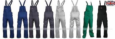 New Cotton Bib and Brace Overalls Painters and Decorators Work Trousers MASTER