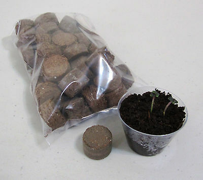 50 Seed Starter Kit Germination Pods (Organic coco coir) for Hydroponics or Soil
