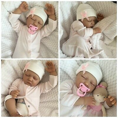 "Reborn Baby Girl Doll Sophie Fake Babies Realistic Hand Painted 22"" Newborn"