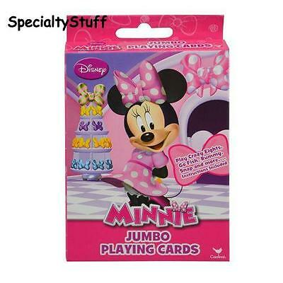 New Minnie Mouse Jumbo Playing Cards Crazy Eights Go Fish Rummy Snap & More (Bg)