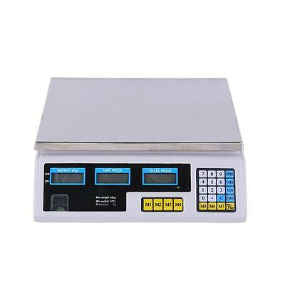 60lb  Electronic Digital Scale Price Computing Food Produce Counting White US