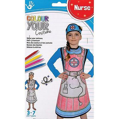 NEW Colour Your Costume - Childrens Colouring Dress Up Kit - Nurse