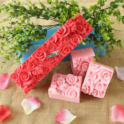 Rose Toast Soap Mold Loaf Silicone Cake Baking Bread Tools DIY Chocolate Mould