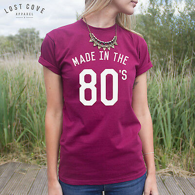 * Made In The 80/'s Jumper Sweater Top College Fangirl Fashion Fresh Vintage *