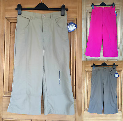 Regatta Ladies / Girls Pink Stone Grey Cropped Summer Trousers 5 - 16 Years Bnwt