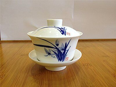 Chinese Style XL Gaiwan Tea Cup/coffee Cup 220ml (Orchid)