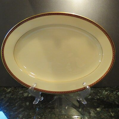 """Lenox MONROE Oval Serving/Meat Platter 16"""" Presidential China Collection"""
