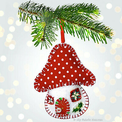 From UK Sewing Pattern Christmas Decorations Tree Mat  #1516