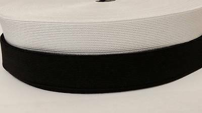 High Quality Flat Elastic 25Mm Wide Available In Black White 1M To 30M