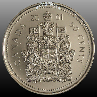 Canada 2001 P 50 Cent In MS Condition