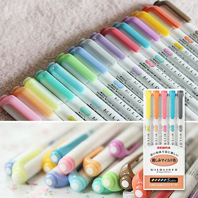 15 Color Full Set - Zebra Mildliner Soft Color Double-Sided Highlighter Marker