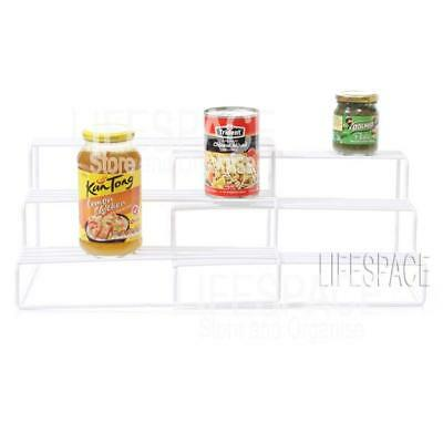 NEW Shelf Expanding 3 Level White for Pantry Kitchen Cupboard Organiser