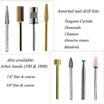 Professional Assorted Nail Drill Bit Attachments