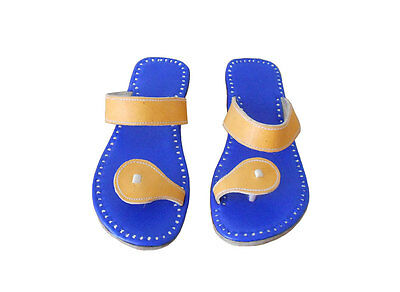 US- 4 INDIAN HANDMADE LEATHER MEN SHOES SLIPPER SANDALS FLAT JUTI TRADITIONAL
