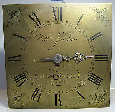 """30 Hour Brass 10"""" Dial and Movement """"William Jordan of Hempsted"""""""