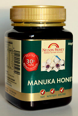 Manuka Honey Methylglyoxal  MGO 30+ 250g 500g 1kg 2kg+ Gift Salt25 g & Delivery