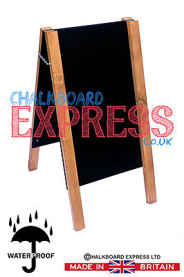 Wooden Pavement Sign A-Board Chalkboard /Cafe/Shop/Pub Liquid Chalk