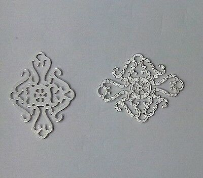 2 Forever Silver Filigree Connectors 23x18mm Durable Silver Plated