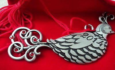 Avon 2014 Partridge Pewter Ornament Nib Fine Collectables