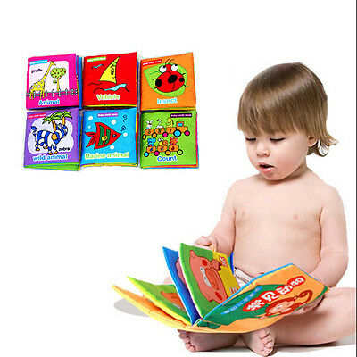 New Soft Cloth Baby Kid Intelligence Development Learn Picture Cognize Book l99