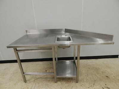 """Stainless Steel Worktable with Sink, 70"""" x 33"""""""