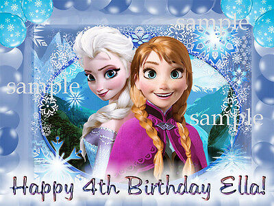FROZEN Edible CAKE Photo Image Icing Topper Decoration FREE SHIPPING