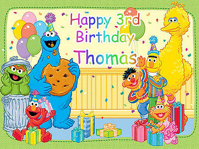 SESAME STREET Edible Photo CAKE Image Icing Topper Decoration FREE SHIPPING