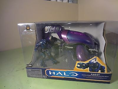 """Halo RC """"Ghost"""" 10th Anniversary Edition Toy with """"Elite"""" Figure"""