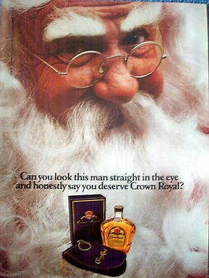1983 Crown Royal Santa Claus Can You Look This Man Straight In The Eye ad
