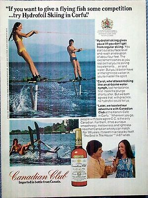 1975 Canadian Club Whisky Hydrofoil Skiing Corfu Greece Flying Fish Competition