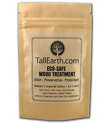 ECO-SAFE Wood Treatment TALL EARTH - LIFETIME Stain & Preservative 1 / 5 Gallon