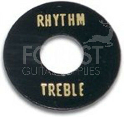 GIBSON LP style toggle switch washer, Black / Gold letters