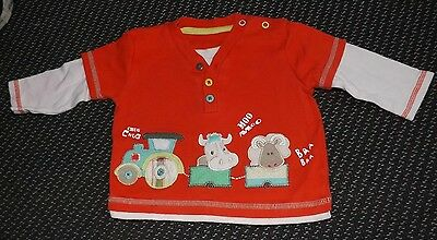 """""""George"""" Baby Boy's Red Top 3-6 Months"""