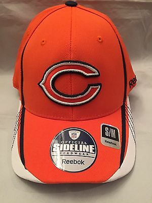 Chicago Bears Mens Reebok S/M Fitted Hat .  NFL Blackhawks Cubs