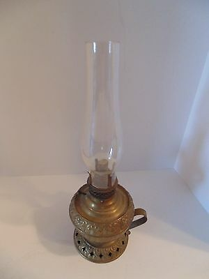 "Vintage ""The Tiny Juno"" Metal Oil Lamp"