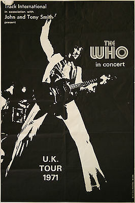 0275 Vintage Music Poster Art - The Who UK Tour 1971
