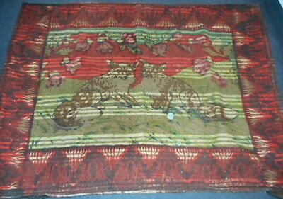 Antique Chase Horsehair Sleigh/Carriage/Buggy - Blanket/Lap Robe/Throw - Fox