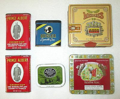Selection of Six Tobacco Related Tins