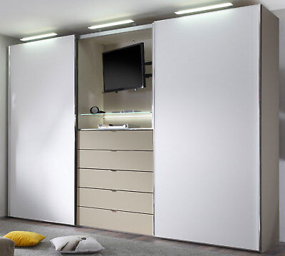 staud media light schwebet renschrank kleiderschrank mit tv fach viele farben eur. Black Bedroom Furniture Sets. Home Design Ideas