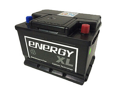 New 60Ah Energy Xl Car Battery Type- 075 Heavy Duty Maintenance Free