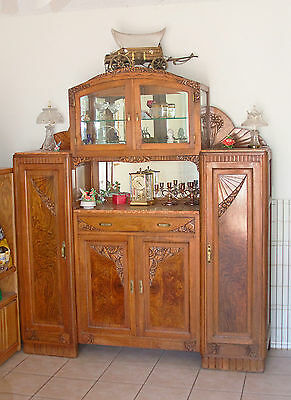 Antique, 1900's Carved Wood, Marble, Belgium Sideboard - From Estate!