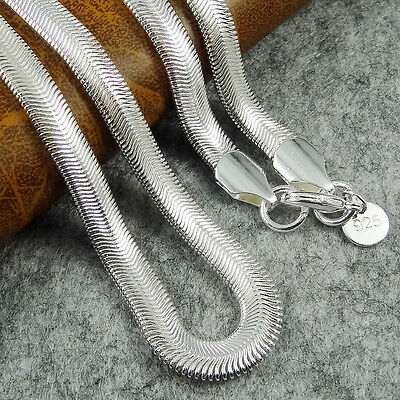 Cool Women Lady Girl 925 Sterling Silver Plated Snake Chain Beauty Necklace Gift