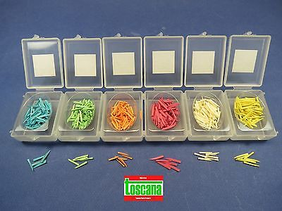 Dental Wedges Wooden Wood Box /6 Set Assorted 600 Pcs TOSCANA