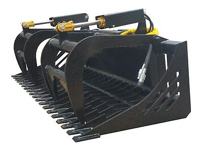 "New Skid Steer  72"" Skeleton Rock Grapple Universal Quick Attach Free Shipping!"