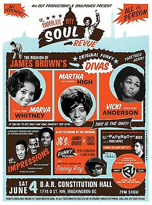 0316 Vintage Music Poster Art - The Chocolate City Soul Revue