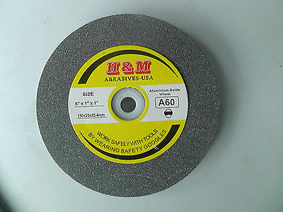 """Vitrified GRINDING WHEEL 6""""x1/2""""x1"""" A100 Bench Grinder"""